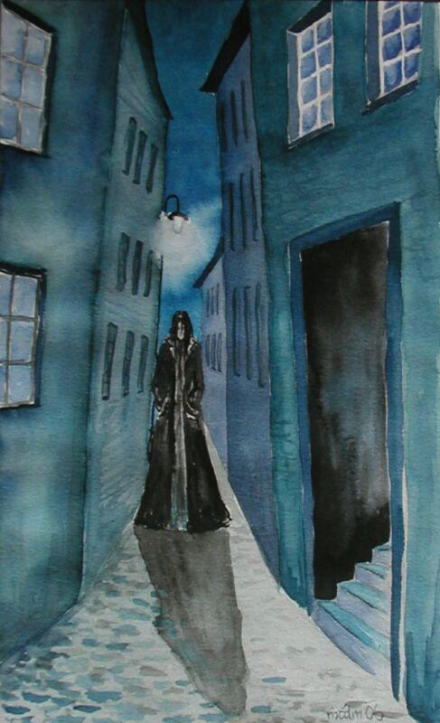 fantasy postava v ulicích